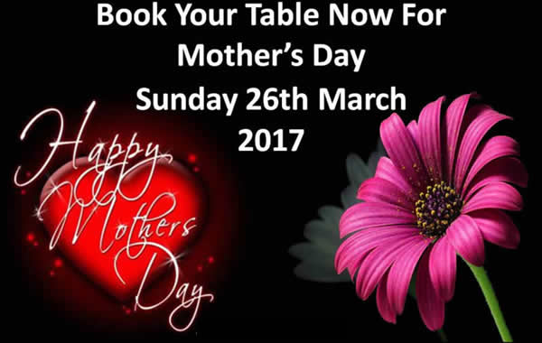 Mothers Day 26th March at The Imperial China Restaurant